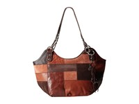 The Sak Indio Satchel Brown Patch Shoulder Handbags Animal Print