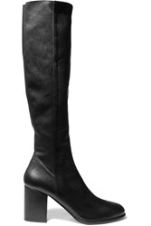 Helmut Lang Leather Knee Boots Black