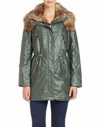 Marc New York Faux Fur Trimmed Anorak Olive