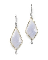 Meira T 14K Gold And Blue Lace Chalcedony Earrings