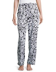Lord And Taylor Patterned Lounge Pants White