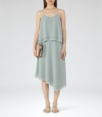 Reiss Ansley Womens Tiered Cami Dress In Green