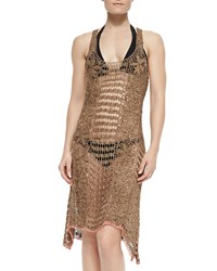 Letarte Sleeveless Crochet Coverup Dress Women's