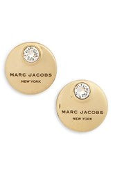 Marc By Marc Jacobs Women's Mj Coin Stud Earrings Crystal Gold