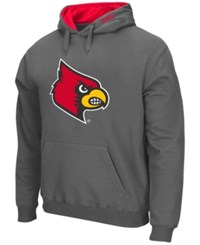 Colosseum Men's Louisville Cardinals Big Logo Hoodie Charcoal