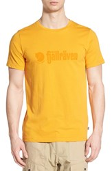 Fjall Raven Men's Fj Llr Ven 'Retro' Organic Cotton Graphic T Shirt Campfire Yellow