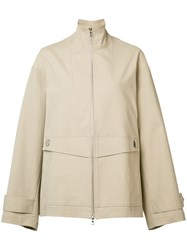 Adam By Adam Lippes Oversized Anorak Jacket Nude Neutrals