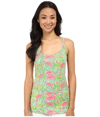 Lilly Pulitzer Tabbie Tank Resort White Hot Wings Women's Sleeveless Green