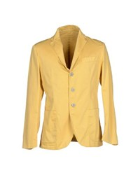 Betwoin Suits And Jackets Blazers Men Yellow