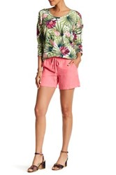 Tommy Bahama Two Palms Drawstring Linen Short Pink