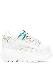Buffalo Chunky Sole Sneakers White