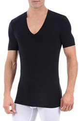 Tommy John Men's 'Second Skin' Deep V Neck Undershirt Black