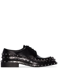 Prada Studded Derby Shoes Black