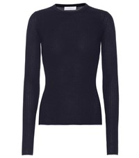 Gabriela Hearst Browning Cashmere And Silk Sweater Blue