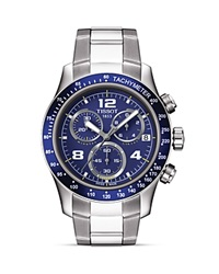 Tissot V8 Men's Blue Chronograph Sport Watch 42.5Mm