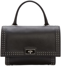 Givenchy Black Leather Small Shark Duffle Bag