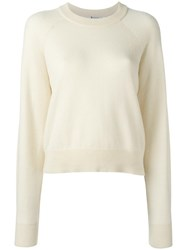 Alexander Wang T By Crew Neck Jumper Nude Neutrals