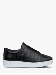 Fitflop Rally Lace Up Leather Trainers Black