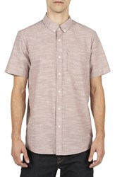 Volcom Men's Slub Oxford Shirt Mauve