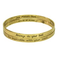 House Of Alaia The Four Agreements Reminder Bangle Set Brass
