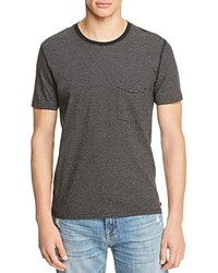 7 For All Mankind Striped Tee Black White
