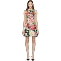 Dolce And Gabbana Multicolor Floral Peonies Dress