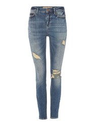 Guess 1981 Ankle Length Jean Denim Mid Wash
