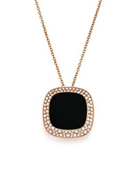 Roberto Coin 18K Rose Gold Carnaby Street Diamond And Black Jade Necklace 16