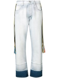 Loewe Striped Bands Straight Jeans Blue