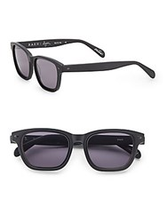 Raen Lyn 52Mm Rectangular Sunglasses Black