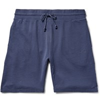 Stussy Stock Loopback Cotton Jersey Shorts Blue