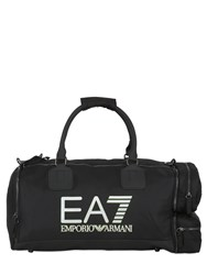 Emporio Armani 48L Logo Printed Nylon Canvas Duffle Bag