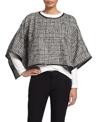 Romeo And Juliet Couture Houndstooth Poncho Black White