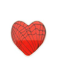 Undercover Cobweb Heart Brooch Red
