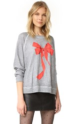 Wildfox Couture I'm The Present Sweatshirt Heather Burnout