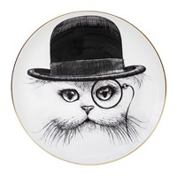 Rory Dobner Perfect Plates Cat In Hat Black And White