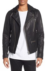 Men's Diesel 'L Gibson 1' Lambskin Leather Moto Jacket