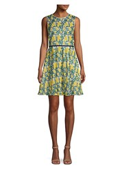 Draper James Embroidered Fit And Flare Dress Vibrant Yellow