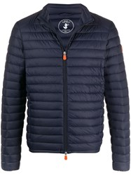 Save The Duck Logo Print Padded Jacket 60