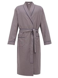 Zimmerli Light Magic Cotton Robe Grey