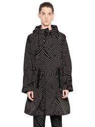 Christopher Kane Geometric Printed Nylon Coat