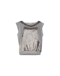 Axara Paris Topwear Sweatshirts Women Light Grey