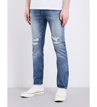 Levi's 501 Distressed Skinny Fit Mid Rise Jeans Bad Boy