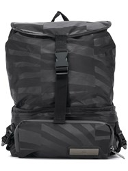 Adidas By Stella Mccartney Graphic Print Convertible Backpack Black