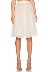 Needle And Thread Tulle Midi Skirt Ivory