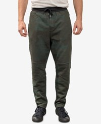 William Rast Men's Lewis Relaxed Fit Joggers Olive Night Camo