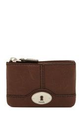 Fossil Marlow Leather Zip Coin Pouch Brown