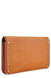 Red Wing Shoes Leather Card Holder Brown Tanned Vegetable