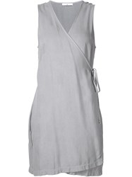 321 Mini Wrap Dress Grey