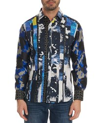 Robert Graham Limited Edition Fear The Tiger Classic Fit Graphic Sport Shirt Multi
